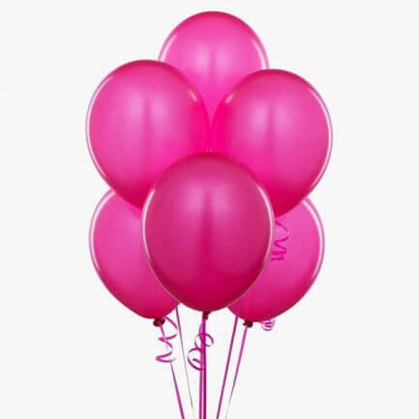 (12) بالونات هيليوم لون زهري
