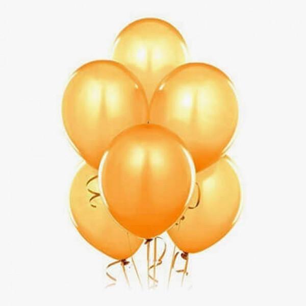 (6) بالونات هيليوم لون ذهبي