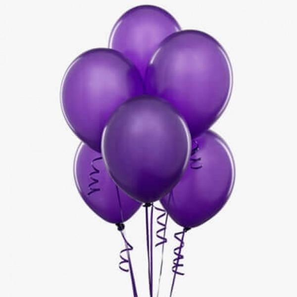 (6) بالونات هيليوم لون بنفسجي