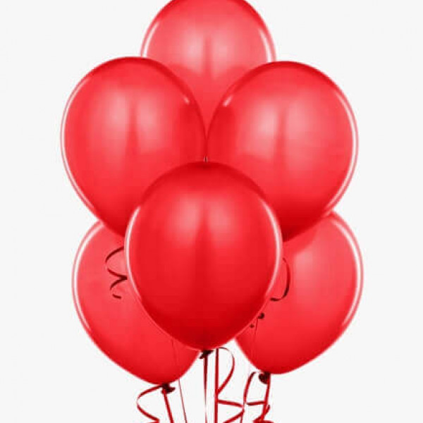 (12) Red Helium Balloons