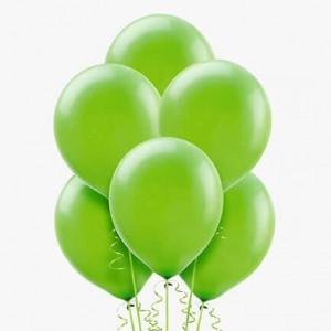 (6) Green Helium Balloons