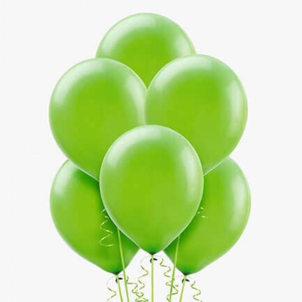 (12) بالونات هيليوم لون أخضر