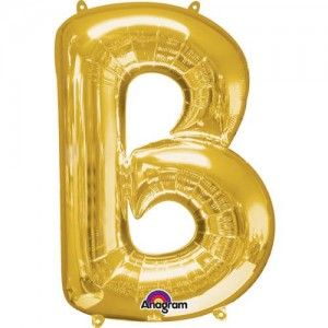 GOLDEN B Letter Balloon