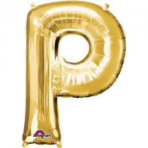 GOLDEN P Letter Balloon