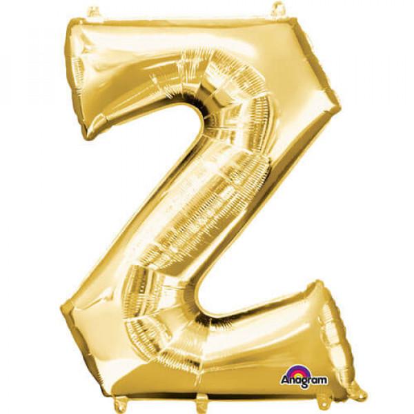 GOLDEN Z Letter Balloon