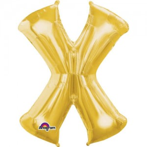 GOLDEN X Letter Balloon