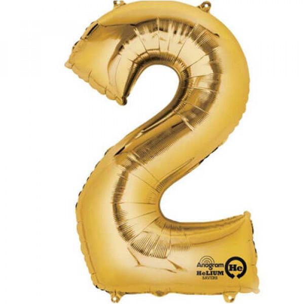 GOLDEN 2 Number Balloon