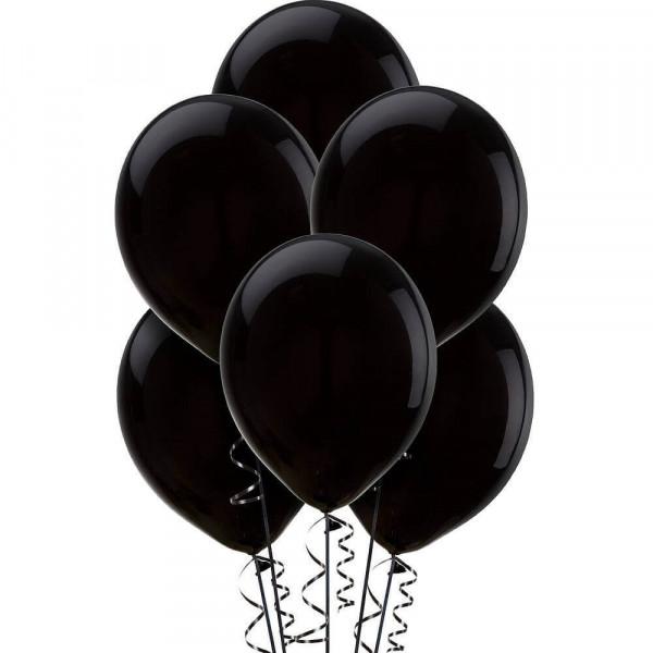(12) بالونة هيليوم لون أسود