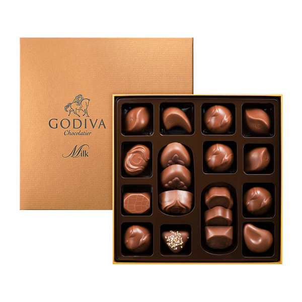 Godiva Connoisseur Milk Chocolate, 18 Pieces